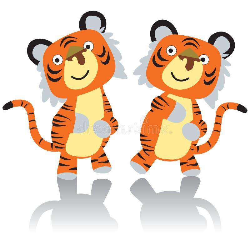 Tigre da dança ilustração royalty free