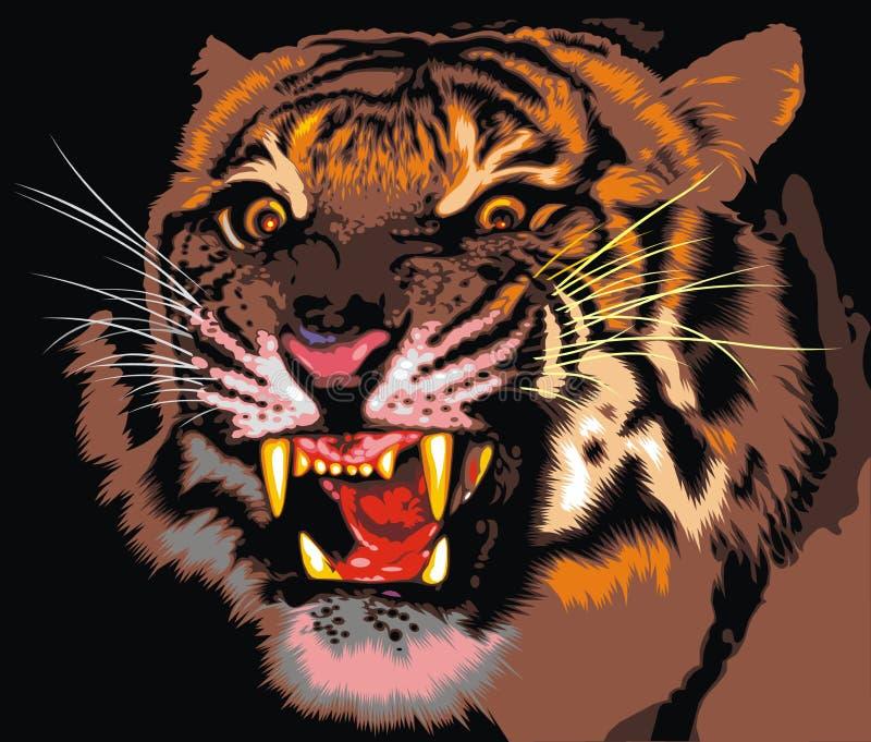 Tigre da selva ilustração royalty free