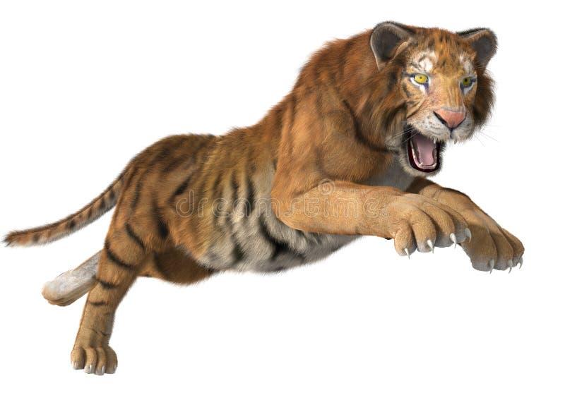 Tigre de chasse illustration stock