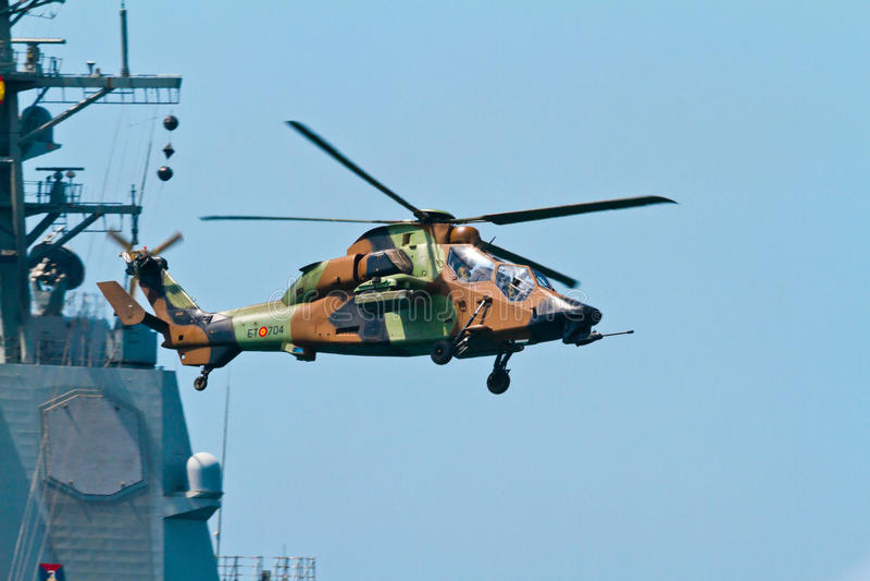 Tigre de Eurocopter EC-665 imagem de stock royalty free