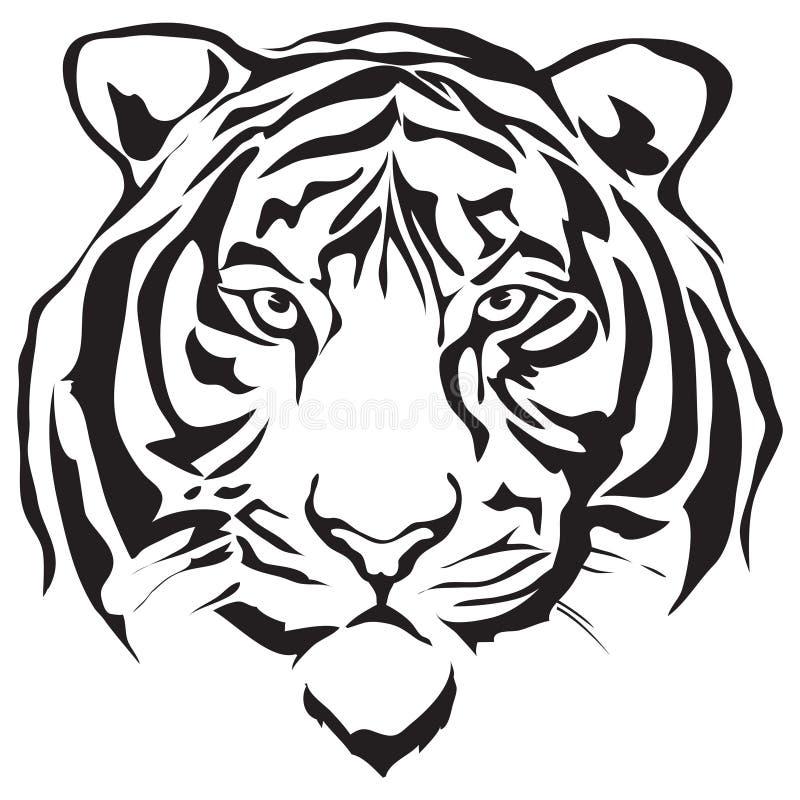 Tigre de la cara stock de ilustración