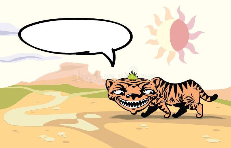 Tigre de passeio. ilustração stock