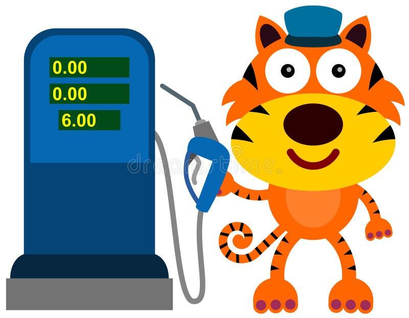 Tigre de station service illustration libre de droits