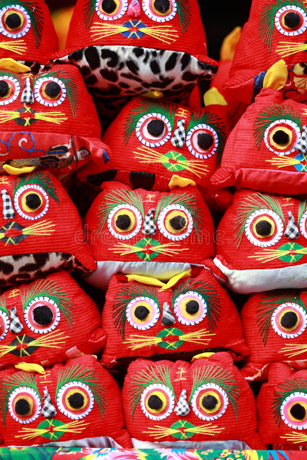 Tigre de tissu de travail manuel de chinois traditionnel photos libres de droits