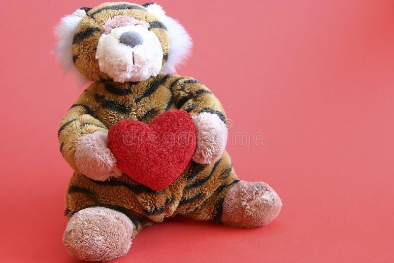 Tigre dei biglietti di S. Valentino immagini stock libere da diritti
