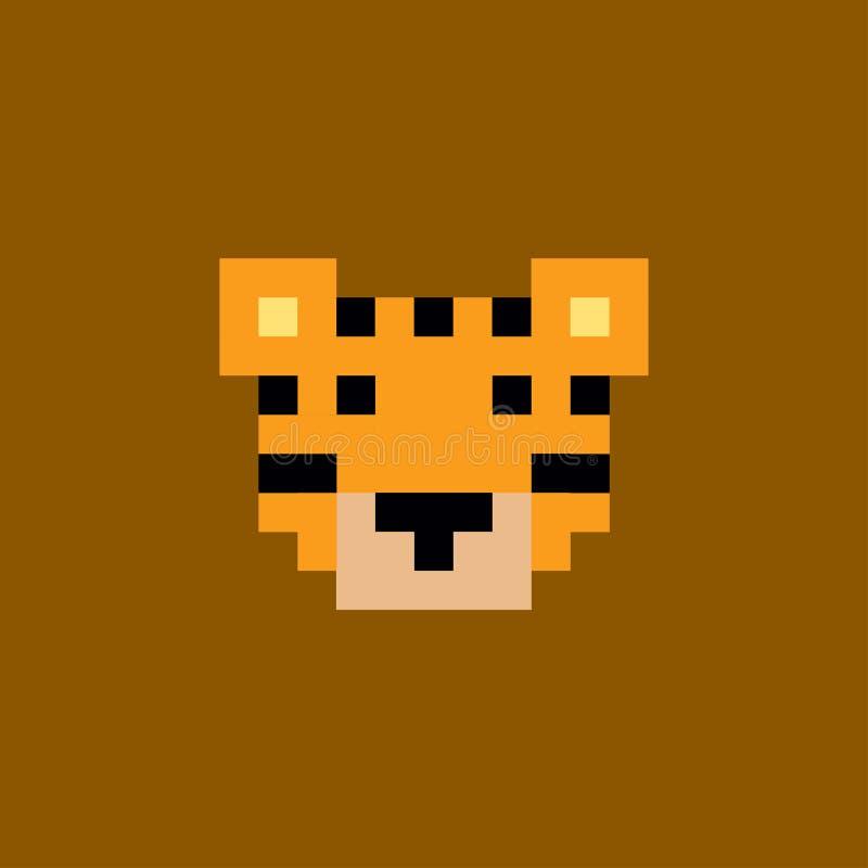 Tigre del pixel del vector ilustración del vector