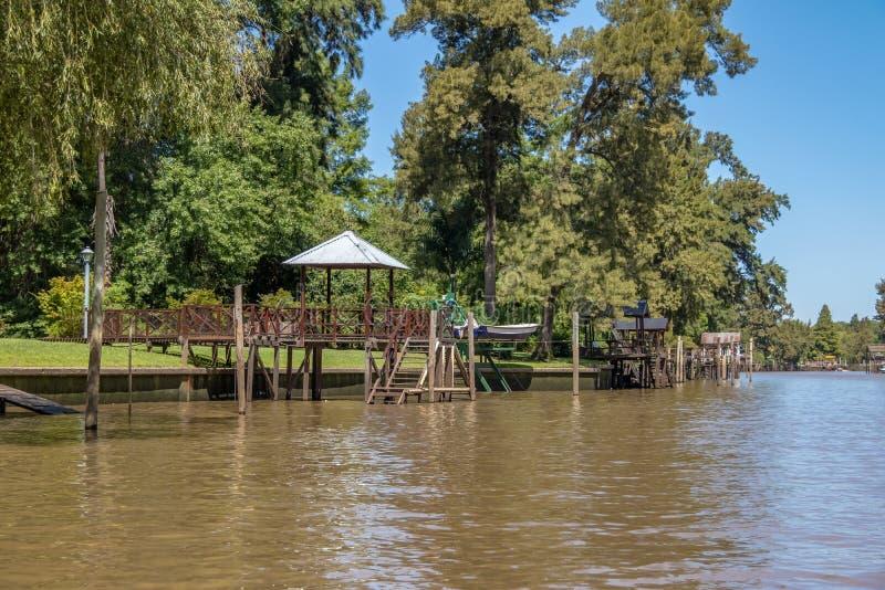 Tigre delta - Tigre, Buenos Aires prowincja, Argentyna zdjęcie stock