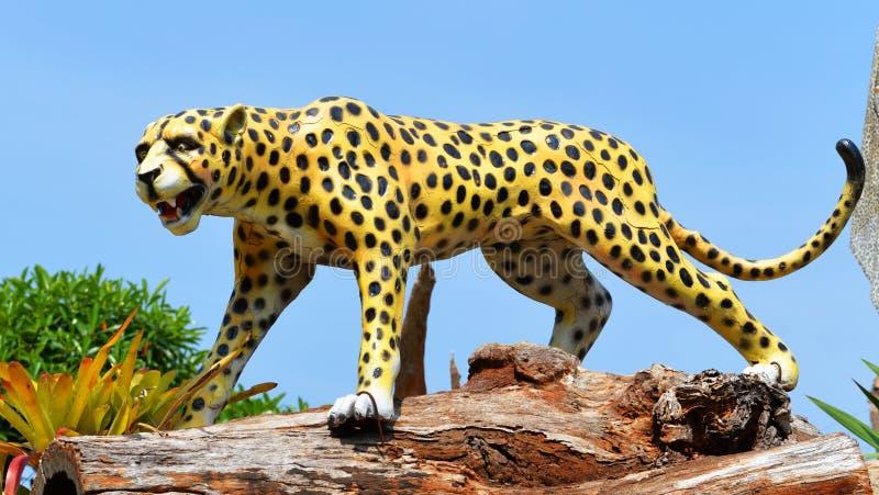 Tigre di Jaguar della statua immagine stock libera da diritti