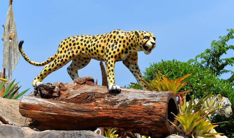 Tigre di Jaguar della statua fotografia stock