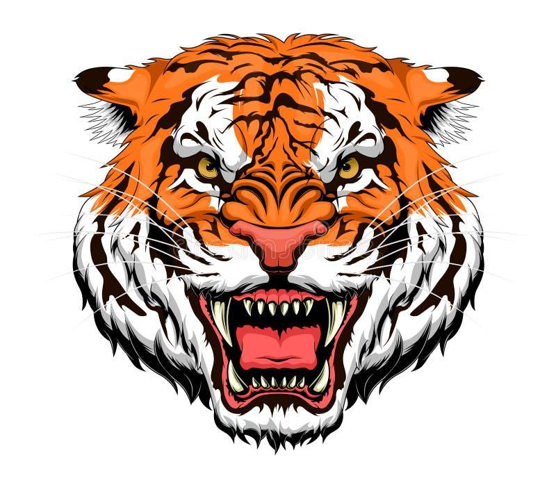 Tigre di rabbia illustrazione vettoriale