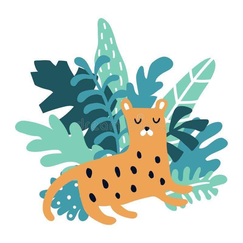 Tigre di sonno royalty illustrazione gratis
