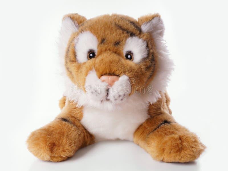 Tigre do brinquedo do luxuoso fotos de stock