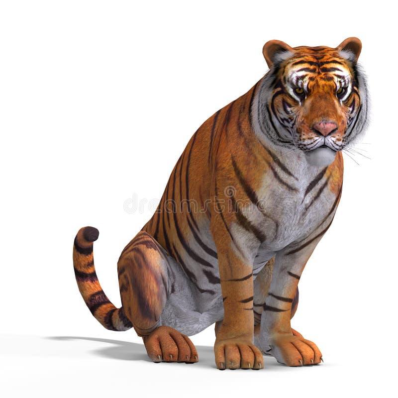 Tigre do gato grande ilustração stock