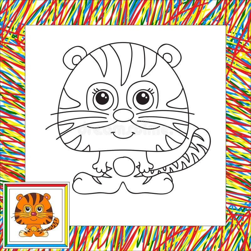 Tigre drôle de dessin animé illustration stock
