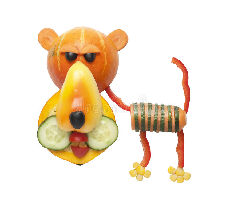 Tigre fait de légumes images stock