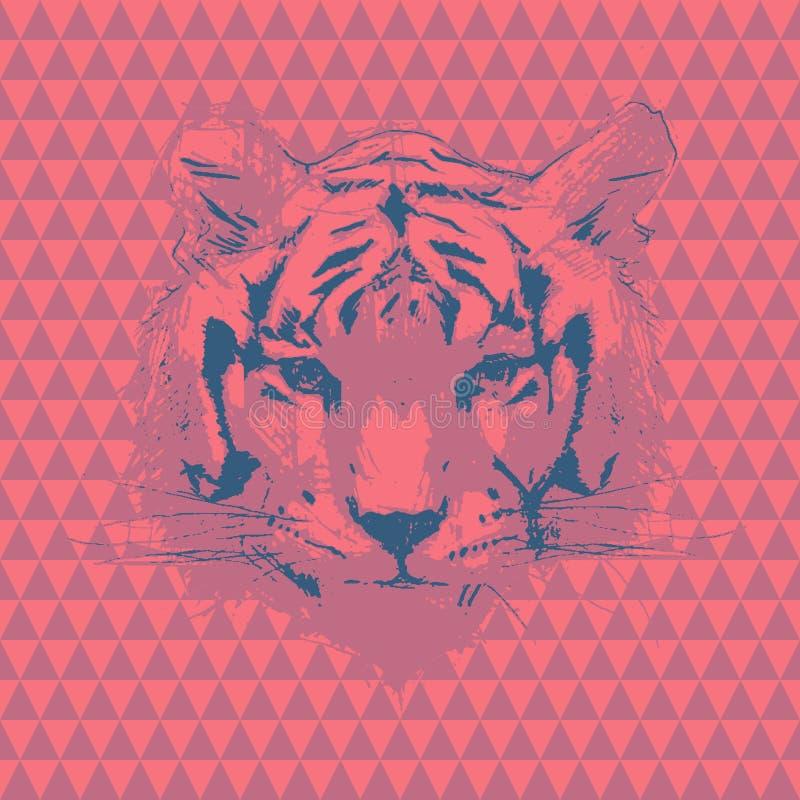 Tigre Ilustração da forma do vetor ilustração royalty free