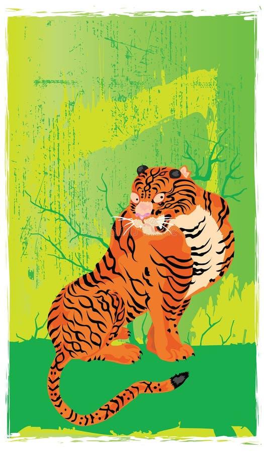 Tigre japonês elétrico ilustração royalty free