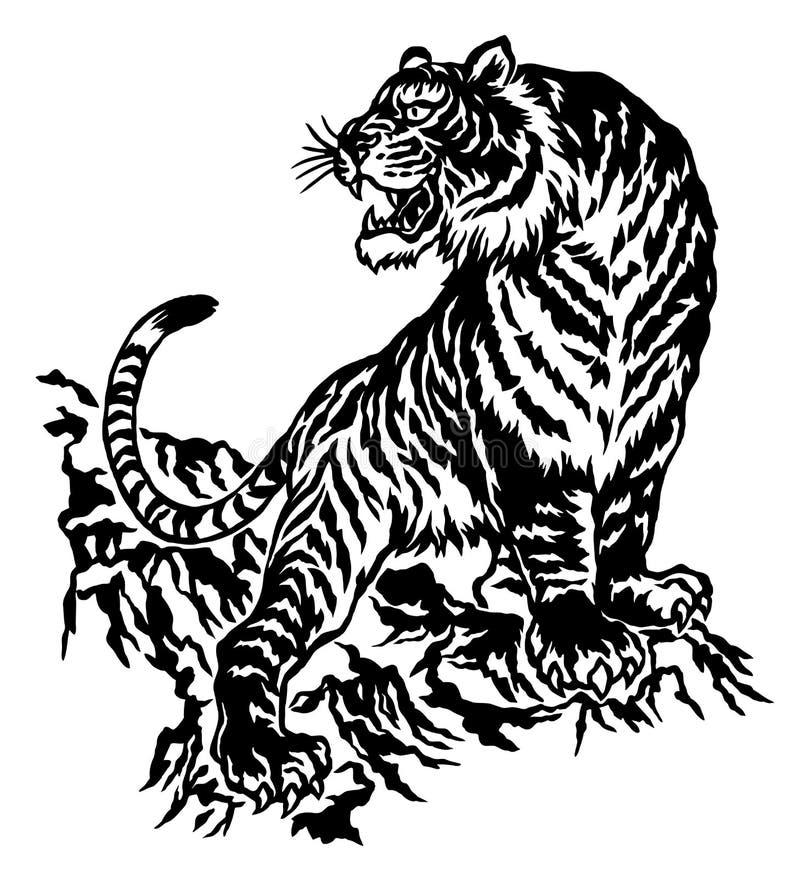 tigre japonais illustration de vecteur image 41754840. Black Bedroom Furniture Sets. Home Design Ideas