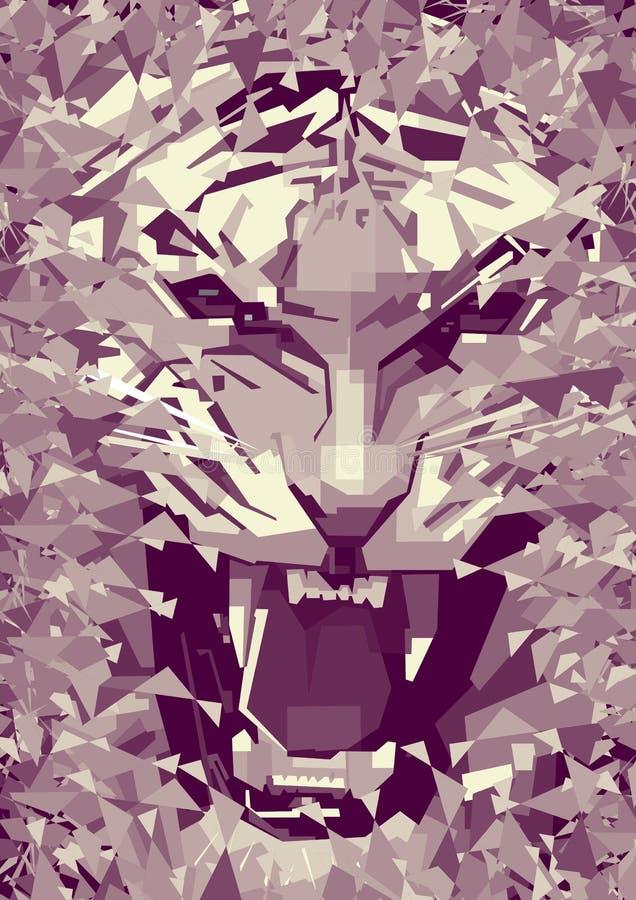tigre monocromático ilustração stock