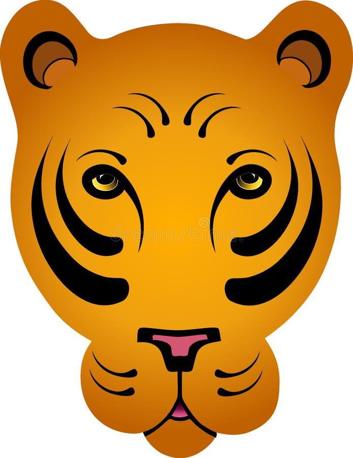 Tigre orange stylisé - aucun contour illustration de vecteur