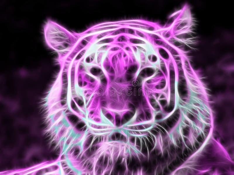 Tigre púrpura de neón foto de archivo libre de regalías