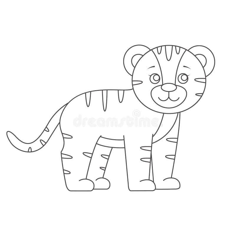 Tigre Per Il Libro Da Colorare Illustrazione Vettoriale Illustrazione Di Giungla Pittura 88321075