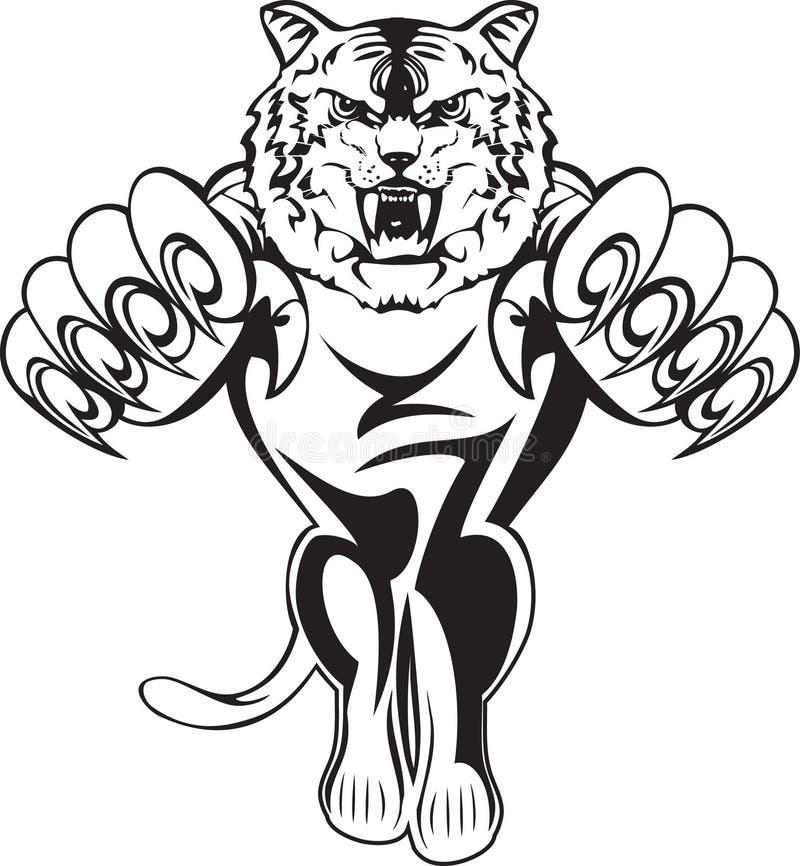 Tigre que ataca ilustración del vector