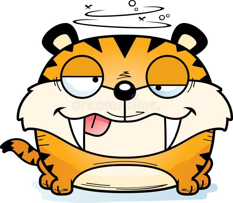 Tigre Sabre-denté maladroit illustration libre de droits