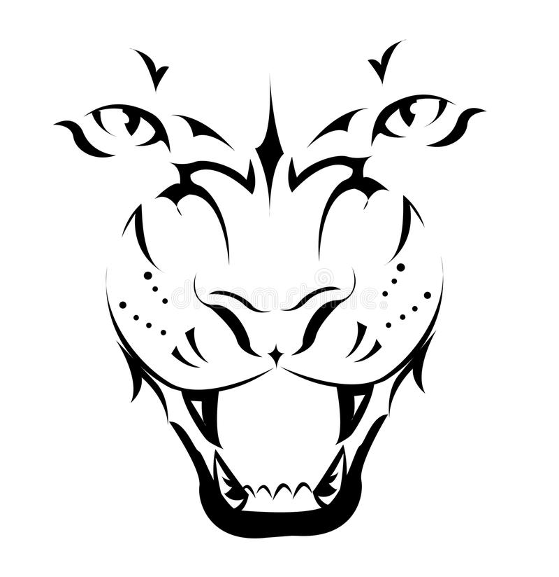 Tigre, tatouage illustration de vecteur