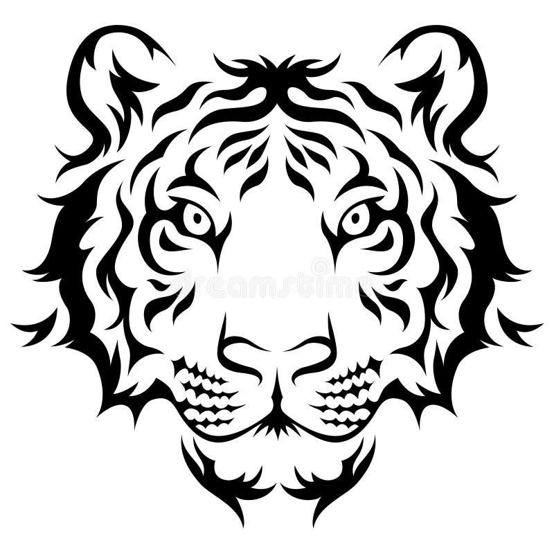 Tigre tribal illustration de vecteur