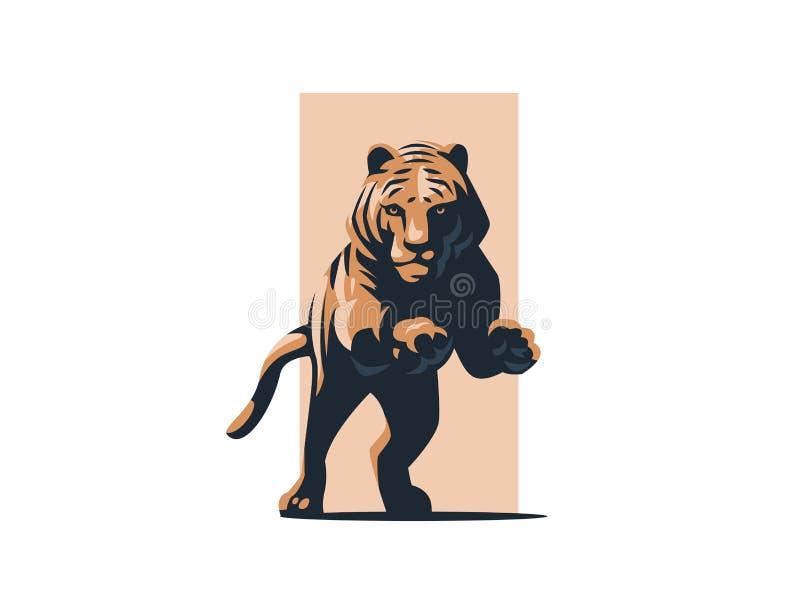 Tigre in un salto illustrazione di stock