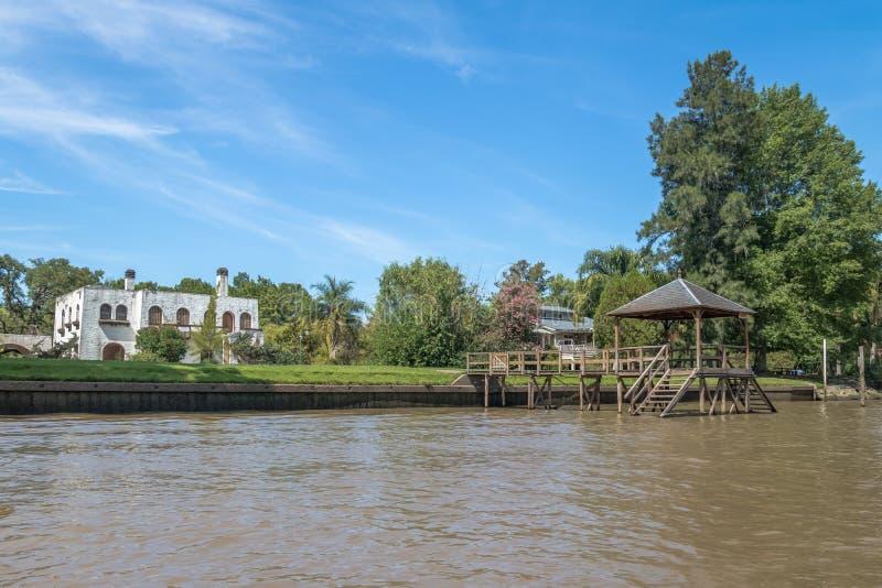 Tigredelta - Tigre, de Provincie van Buenos aires, Argentinië royalty-vrije stock afbeelding