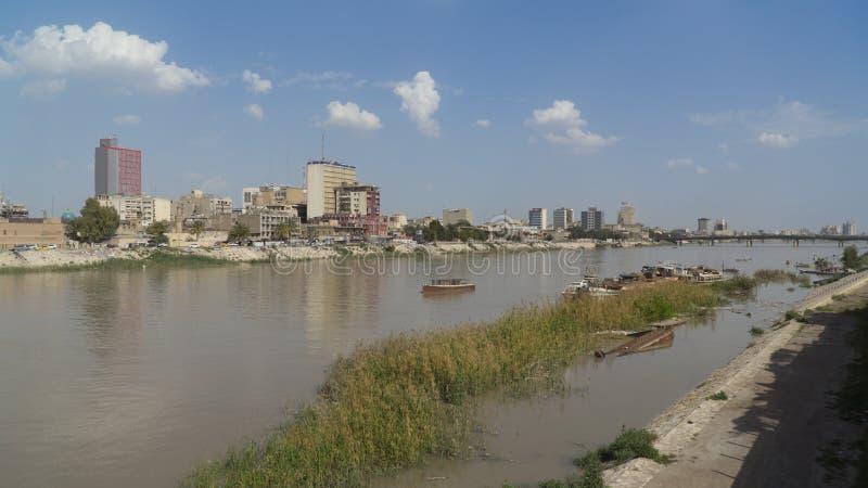 Tigris River Bagdad, Irak image libre de droits