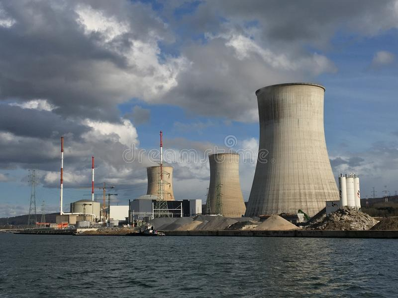 Tihange nuclear power station stock photography