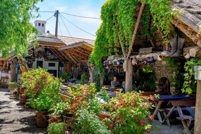 Tihany, Ουγγαρία - 25 05 2018: - Το udvara Regi idok το ναυπηγείο του παλαιού χρονικού εστιατορίου σε Tihany στη λίμνη Balaton στοκ εικόνες