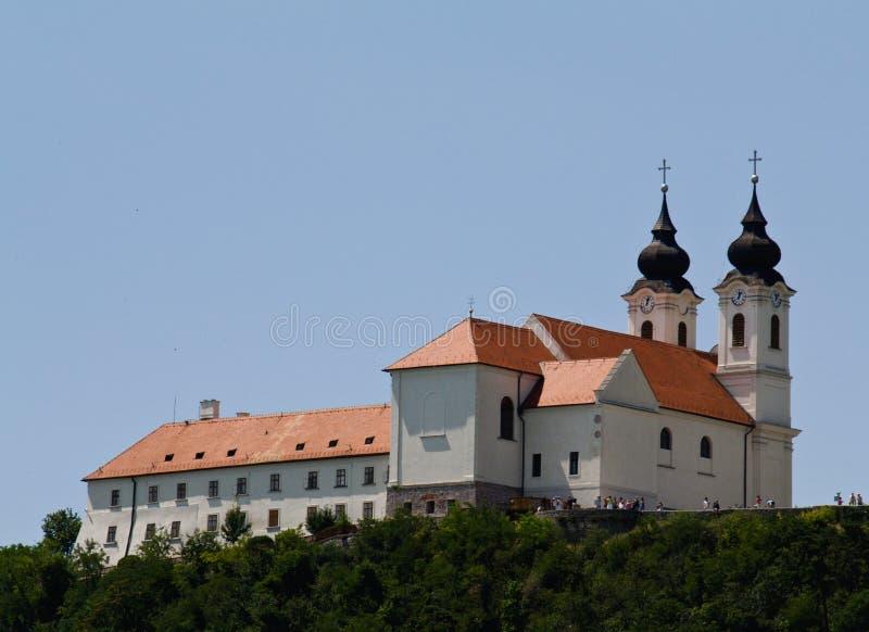 tihany abbey royaltyfria foton