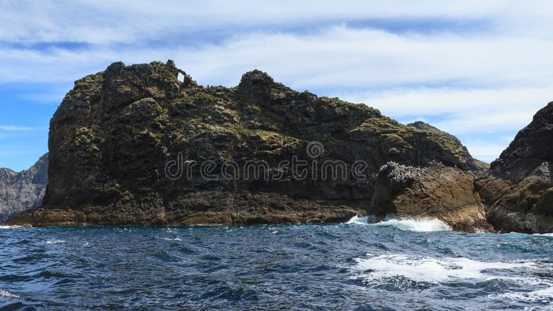 Bay of Islands, New Zealand. Tiny Tiheru Island royalty free stock images