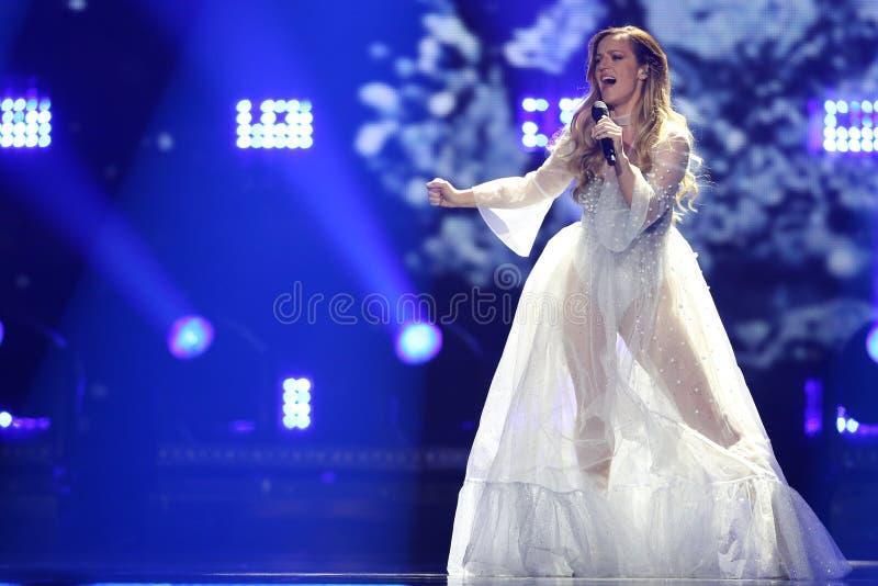 Tijana Bogicevic from Serbia Eurovision 2017 royalty free stock image