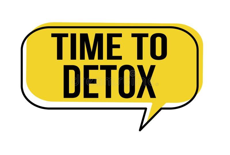 Tijd aan de bel van de detoxtoespraak vector illustratie