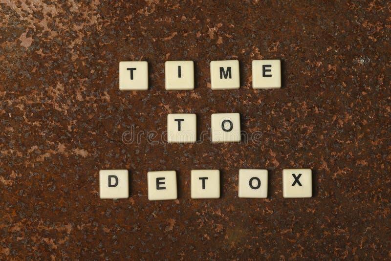 Tijd aan Detox stock foto's