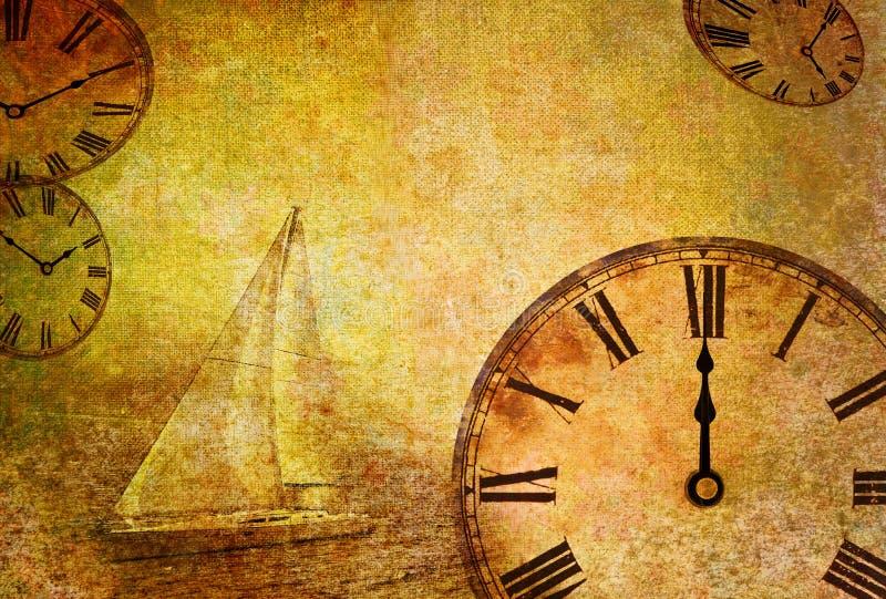 Tijd die, abstracte uitstekende beweging veroorzakend overgaat stock illustratie