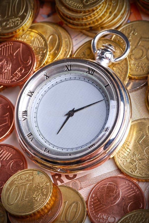 Tijd - een geld royalty-vrije stock afbeeldingen