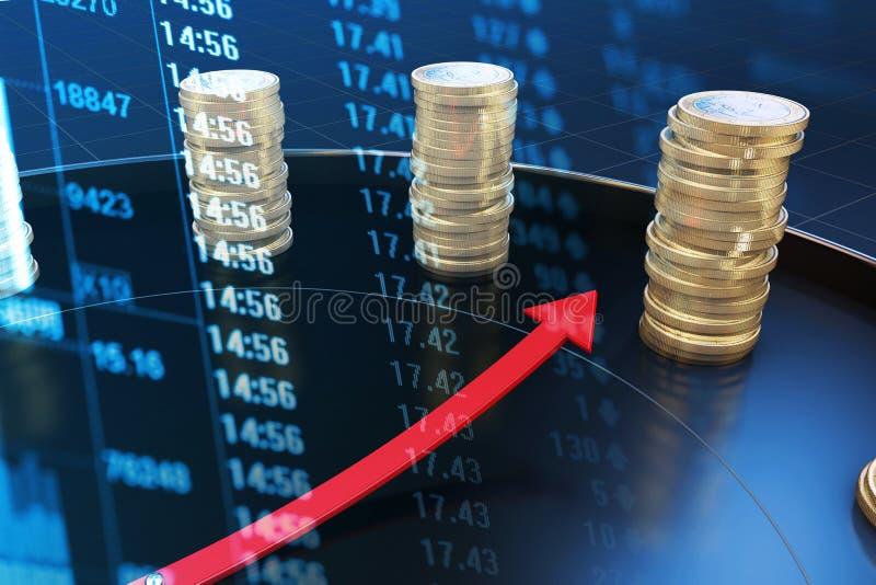 Tijd en economische gegevensindex royalty-vrije stock afbeelding