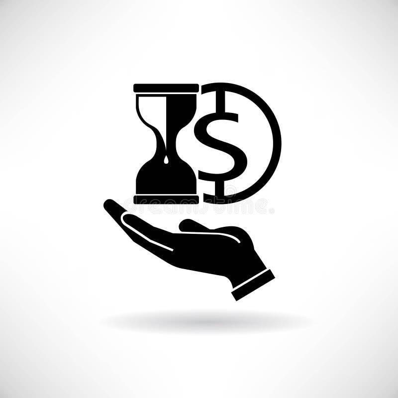 Tijd en geld stock illustratie