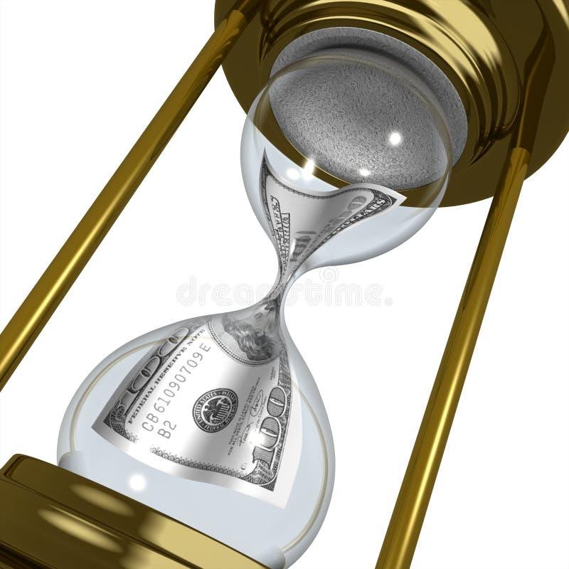 Tijd en geld royalty-vrije illustratie