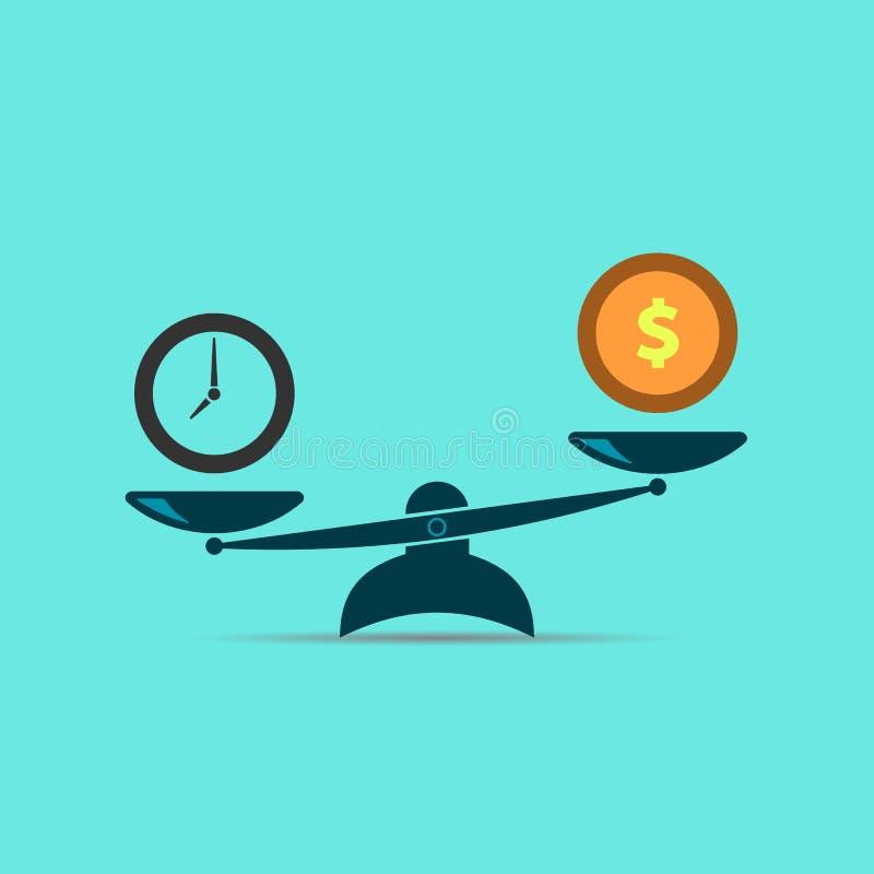 Tijd en geldconcept Dit is dossier van EPS10-formaat Vector illustratie EPS10 vector illustratie