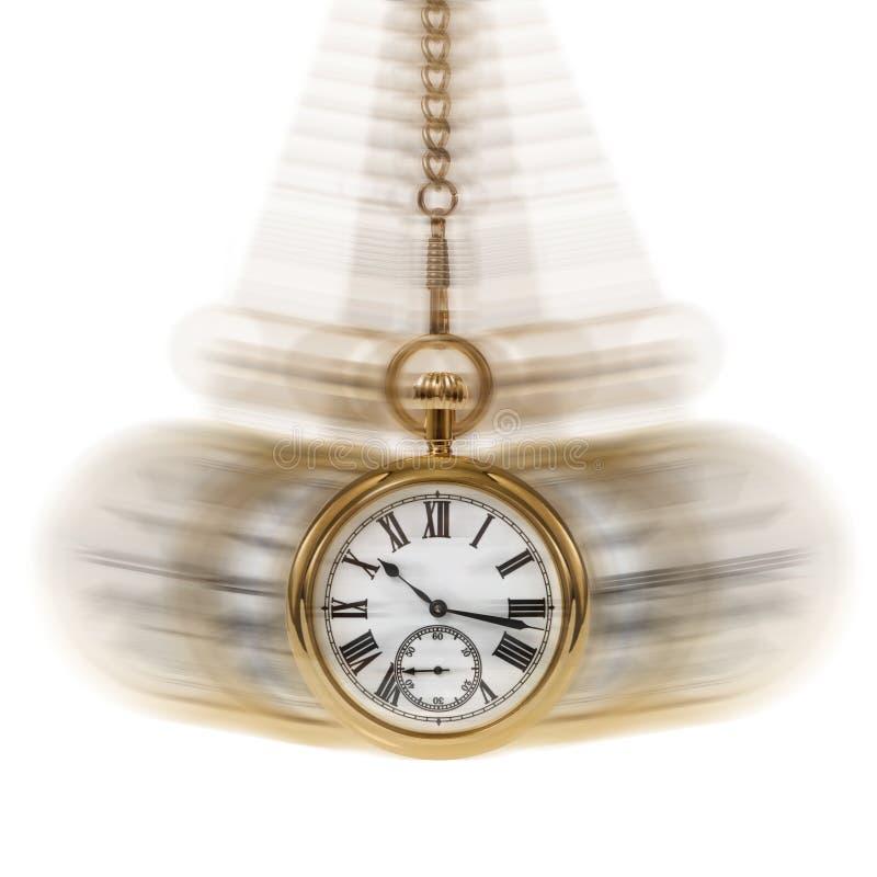 Tijd en het wit van de Motie stock foto