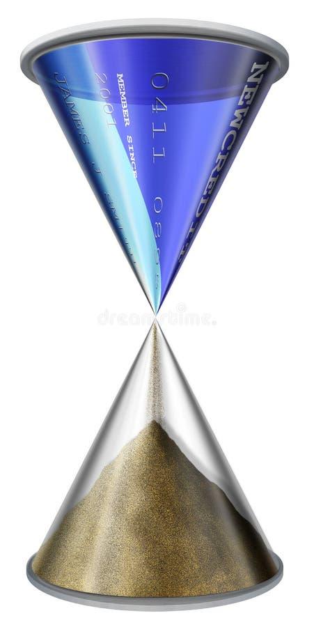 Tijd en krediet 2 royalty-vrije illustratie