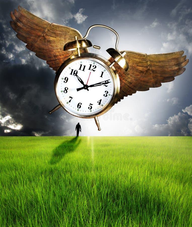 Tijd en mens stock afbeeldingen