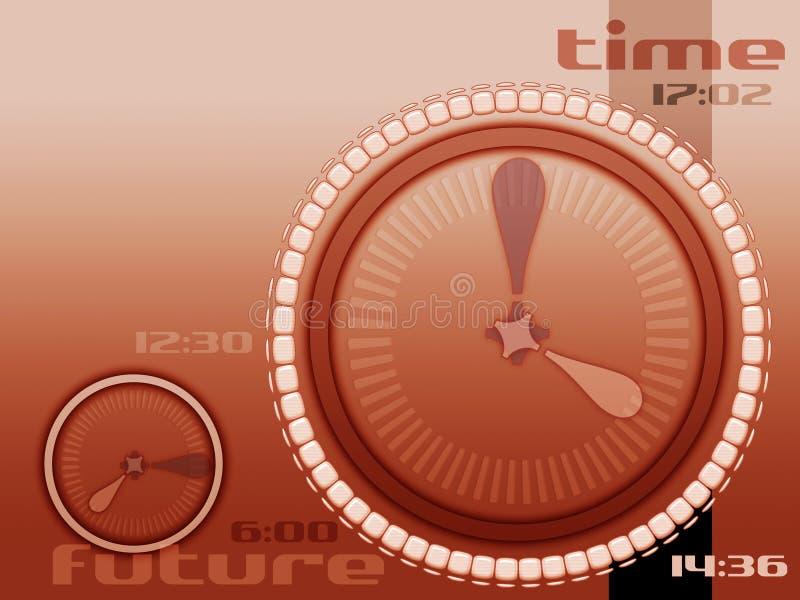 Tijd en toekomst stock illustratie